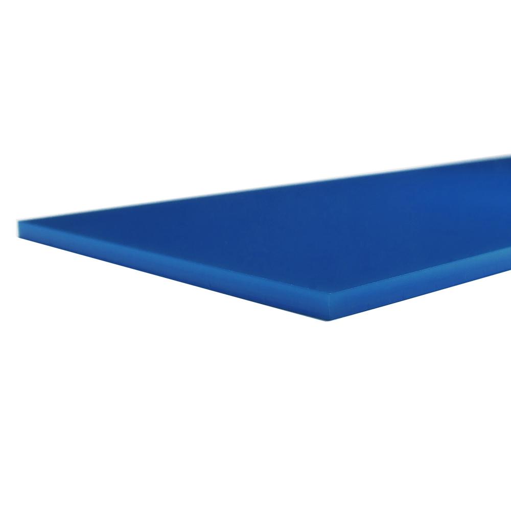 Acrilico blu zaffiro - bordo tagliato al laser