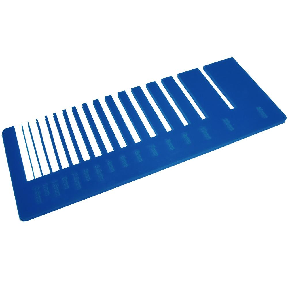 Acrylique bleu saphir - précision de découpe laser