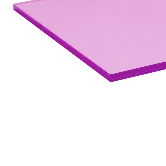 Transparent cyclamen acrylic - laser cut edge
