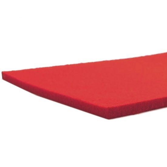 Feutre rouge - bord coupé au laser