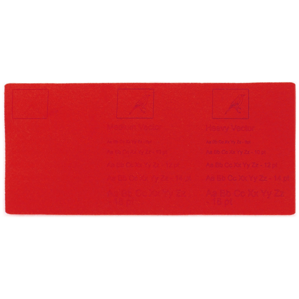 Red felt - examples of laser engraving