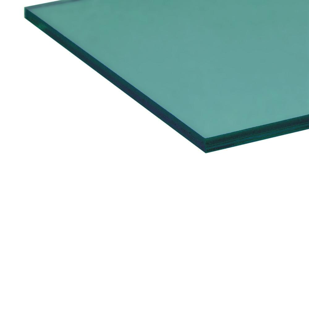 Acrylique vert pétrole - bord coupé au laser