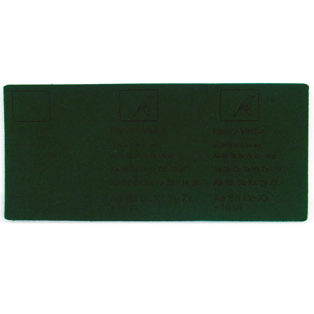 Feutre vert foncé - exemples de gravure