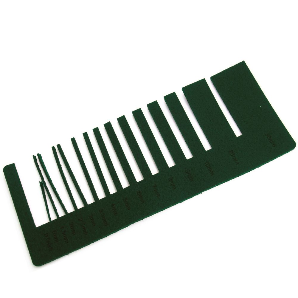 Dark green felt - laser cutting precision