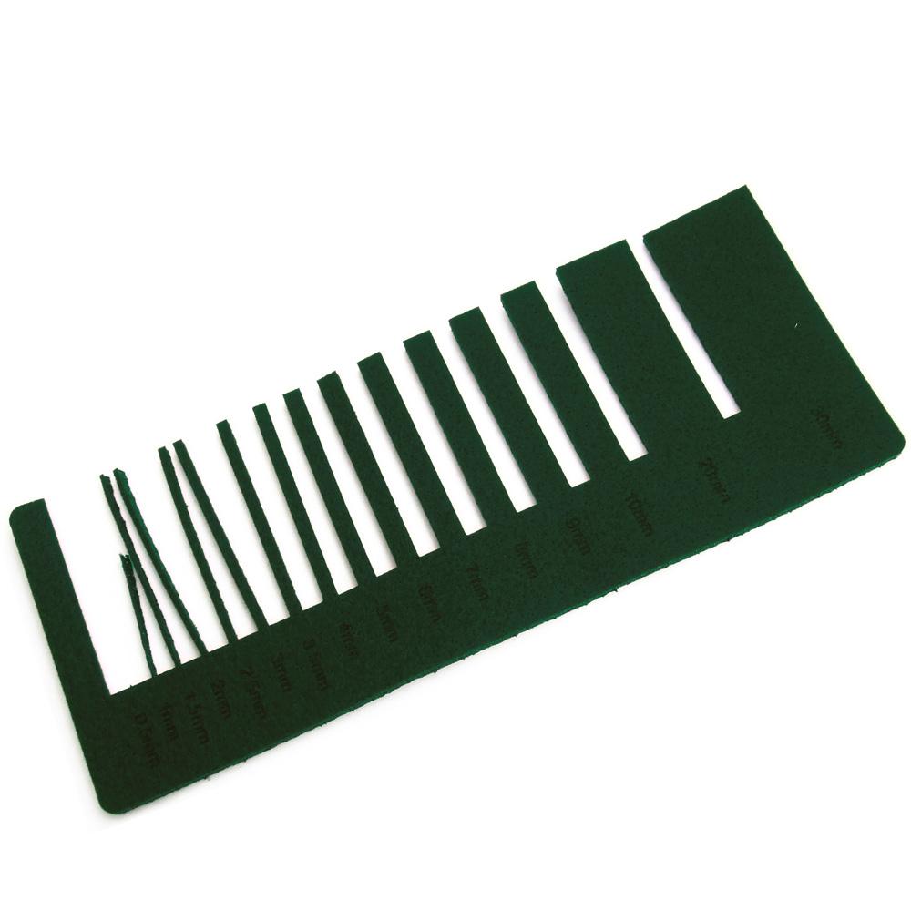 Feutre vert foncé - précision de découpe laser