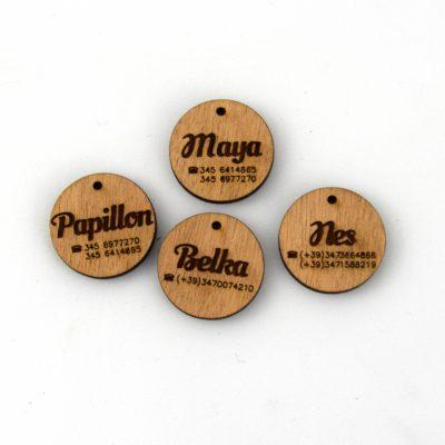 medaglietta in legno personalizzata