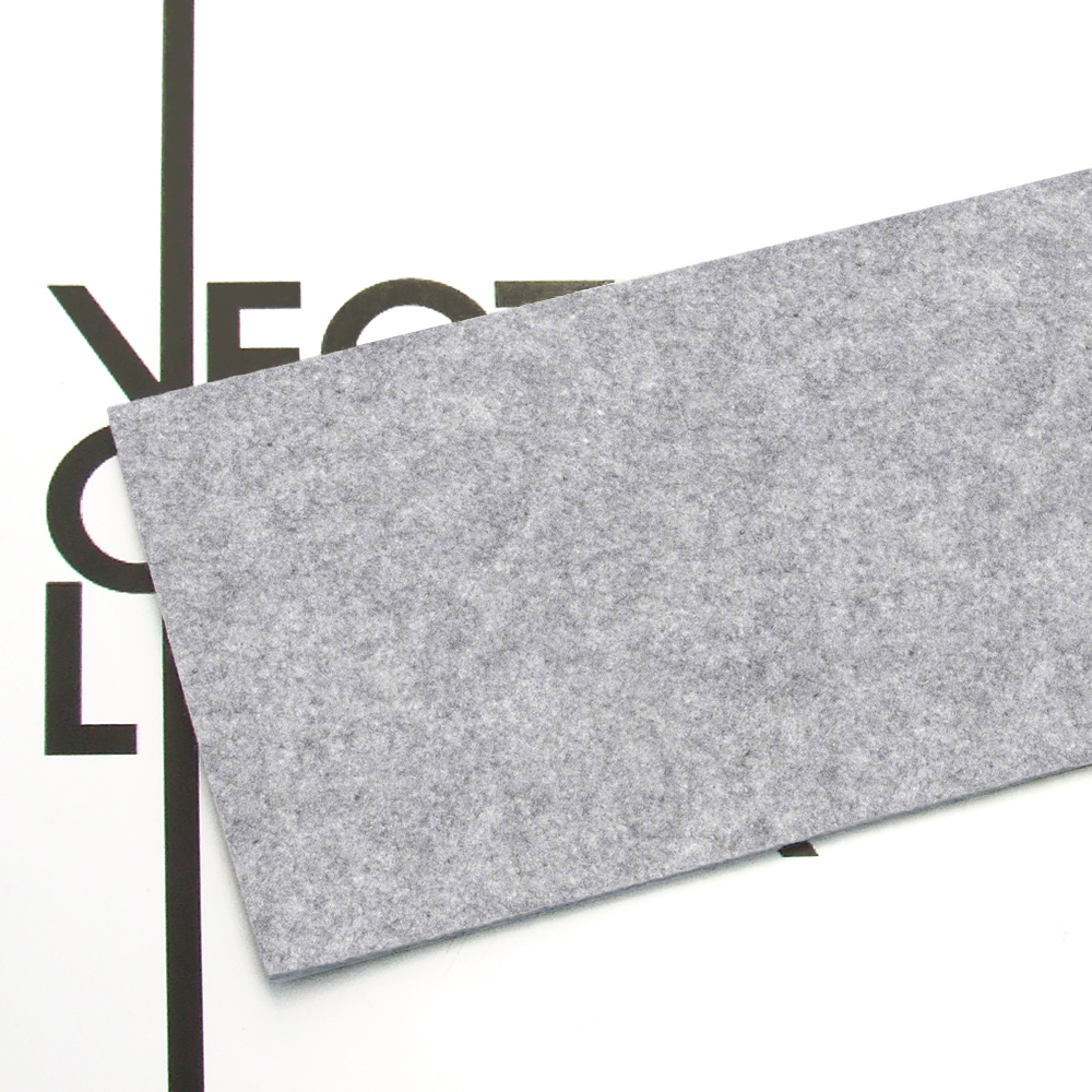 Melange gray felt - finish