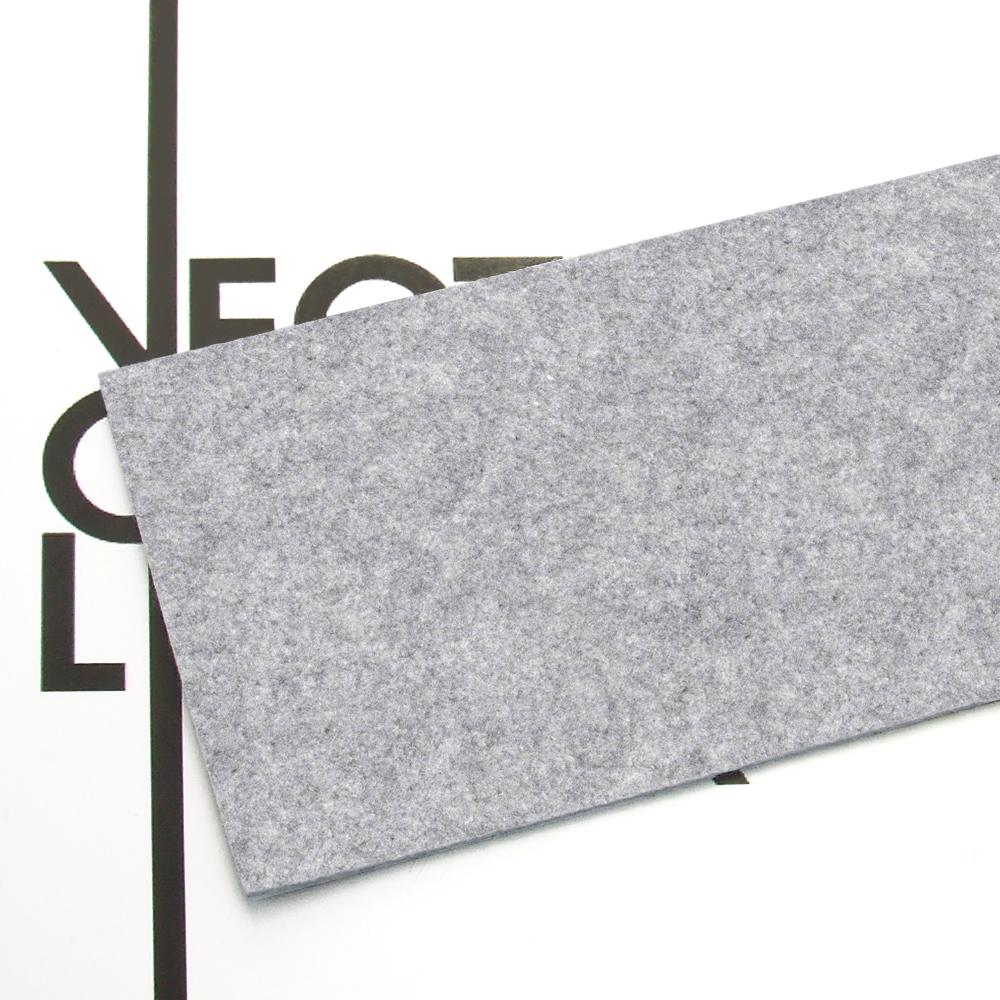 Feutre gris mélange - finition