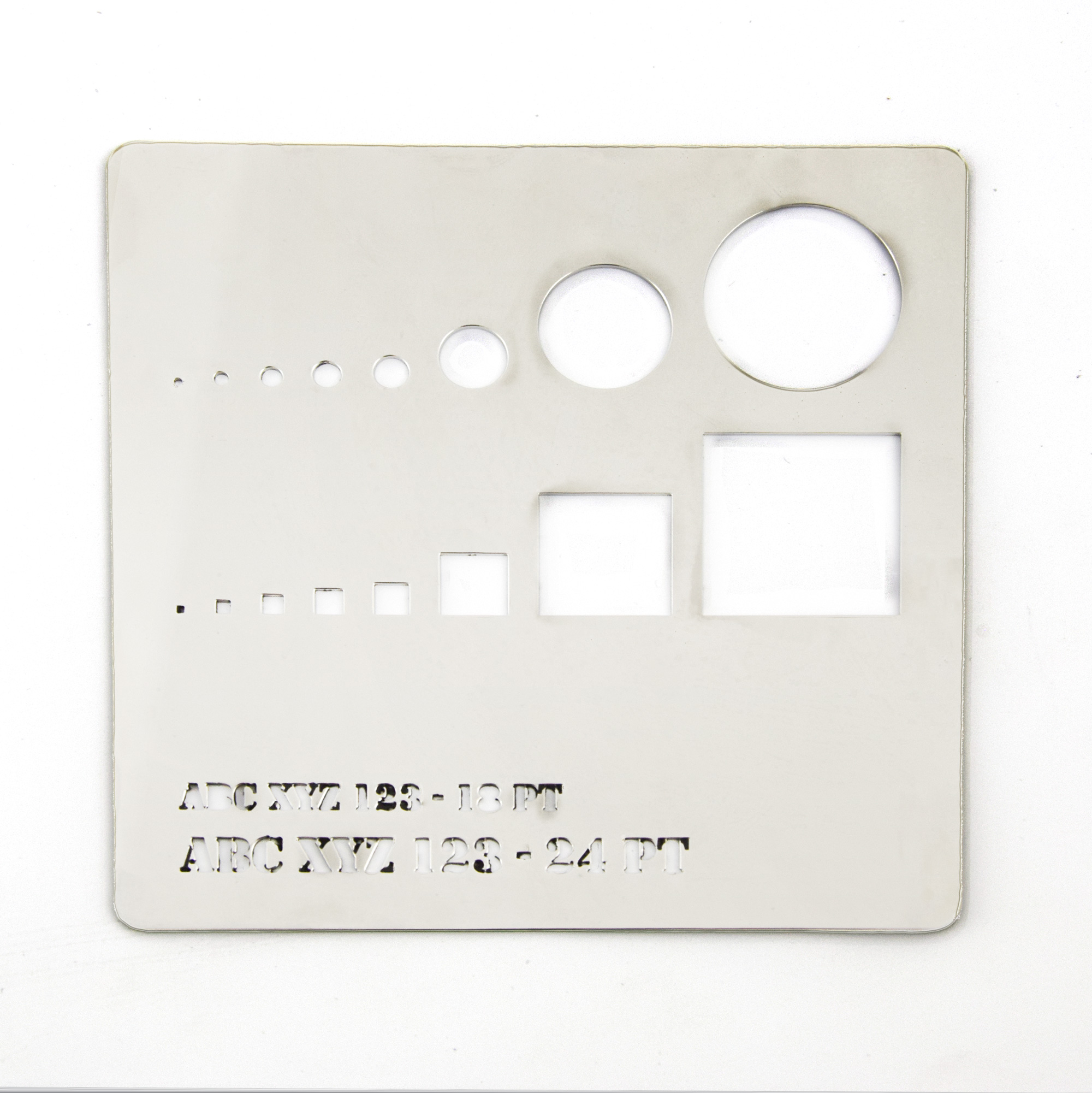 Mirror finish stainless steel - cutting test