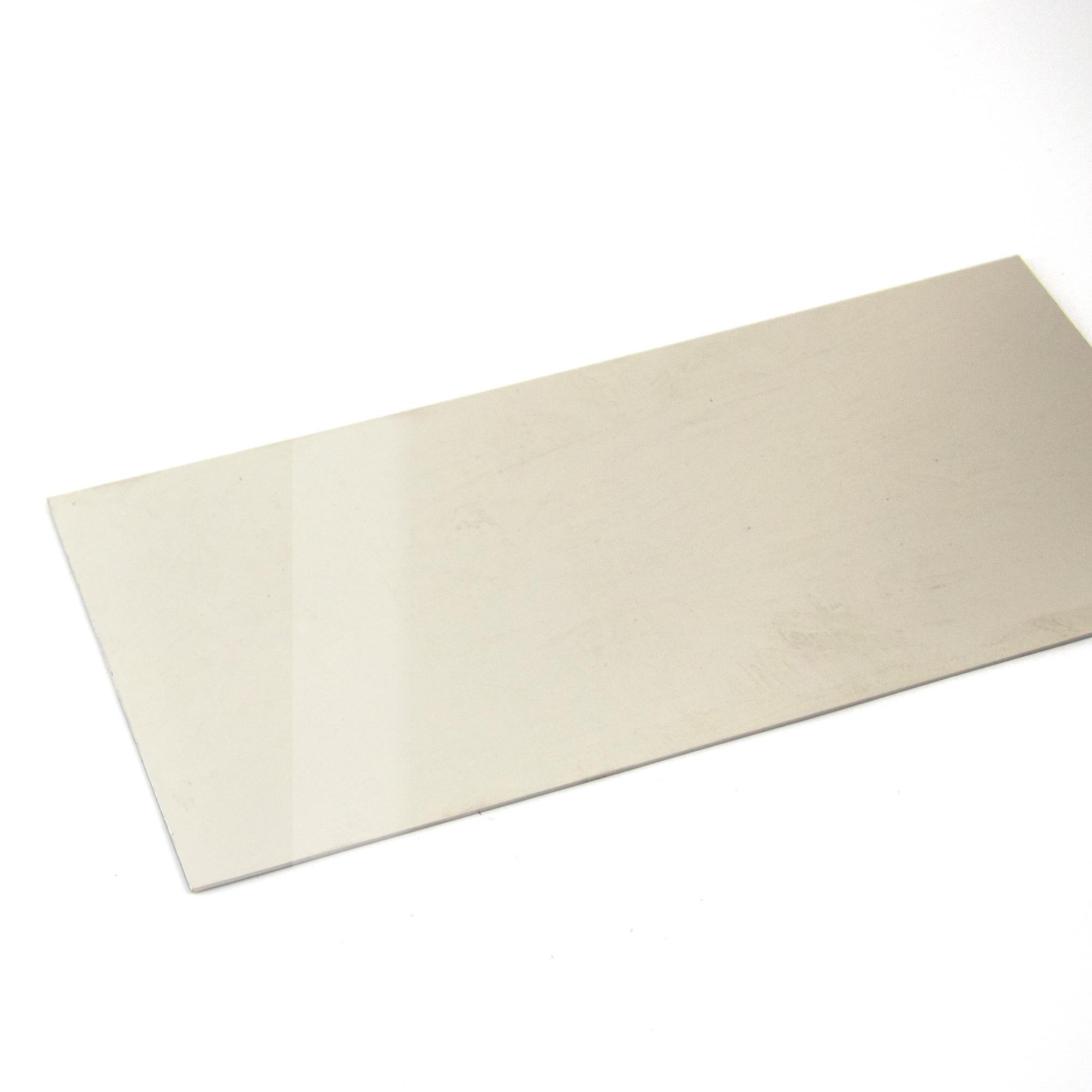 Acier inoxydable finition miroir - bords coupés au laser