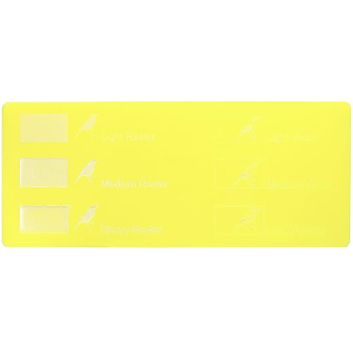 Engraving example - Lemon yellow Plexiglass for laser cutting