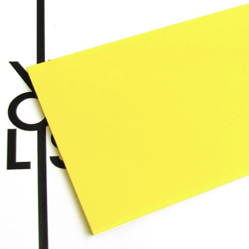 Surface - lemon yellow plexiglass for laser cutting