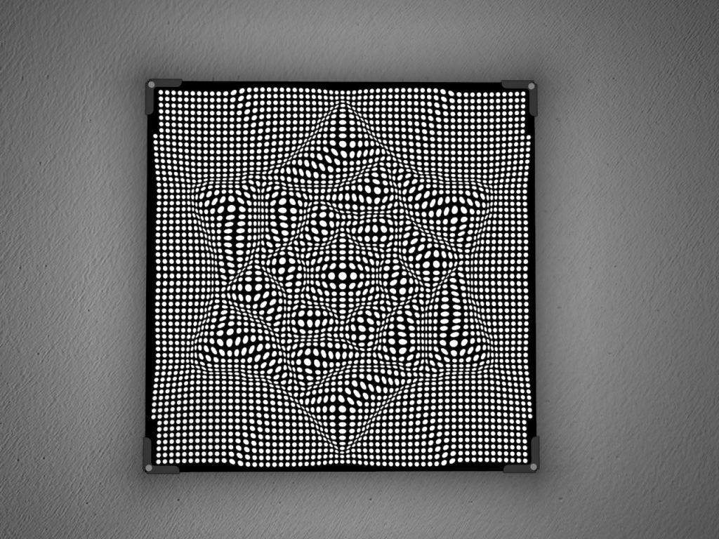 Lamp in laser cut plexiglass | Vectorealism