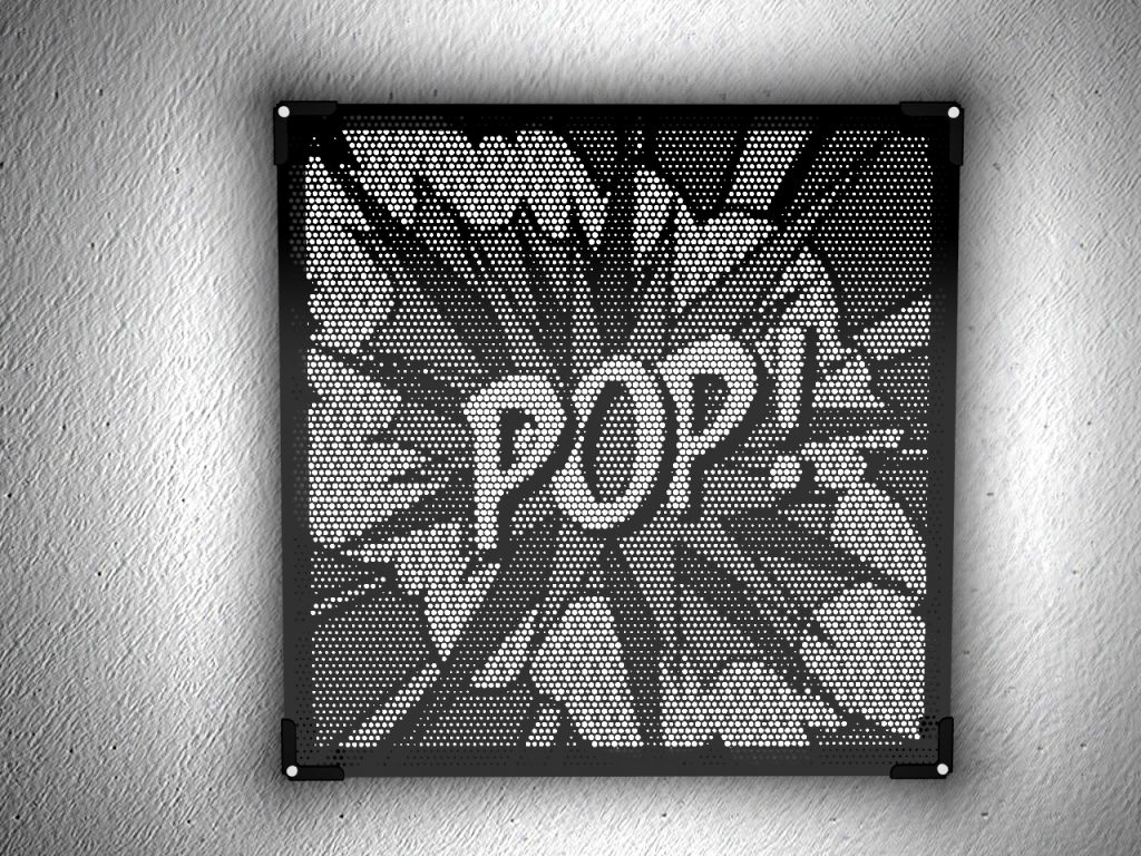 Wall art in laser cut black plexiglass Vectorealism