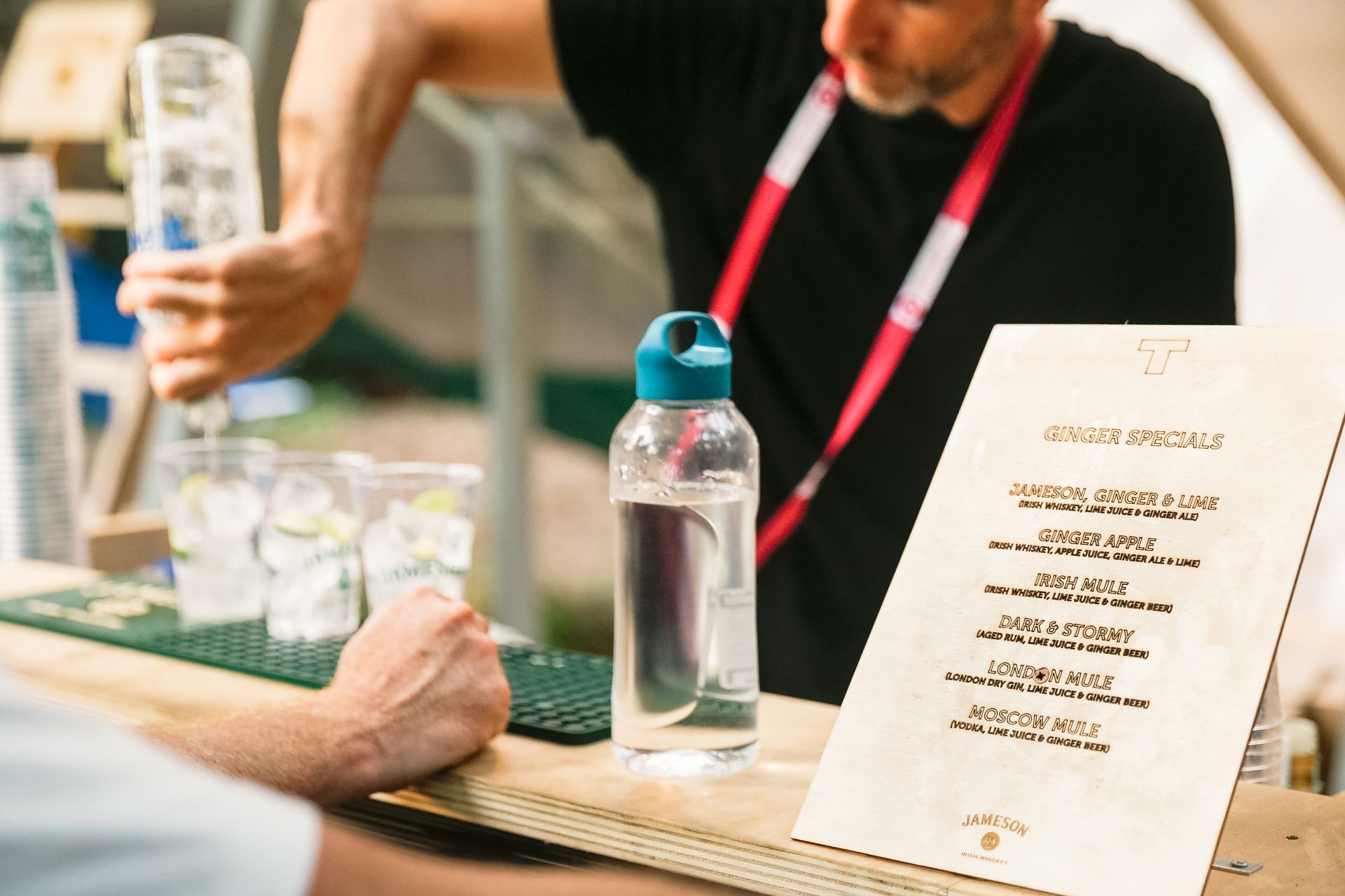 Terraforma | laser engraved wooden drink list