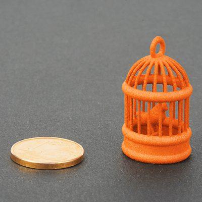 Orange colored plastic - for SLS 3D printing