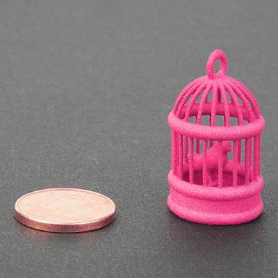 Magenta plastic - nylon for SLS 3D printing