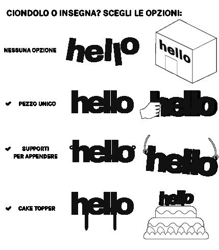 Lettering machine - crea scritte, insegne, cake topper in plastica o metallo con taglio laser