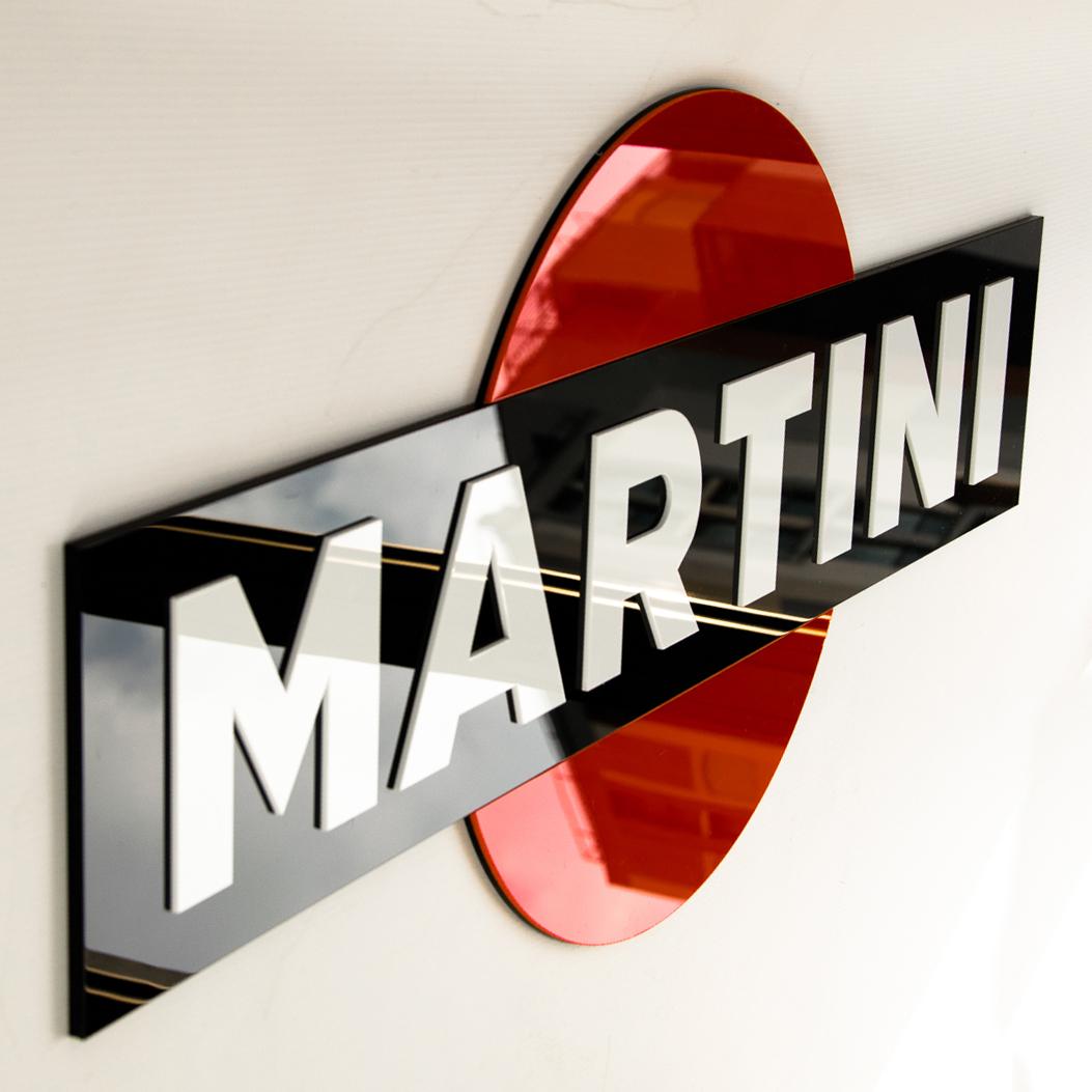 Martini - 3D sign in laser cut plexiglass