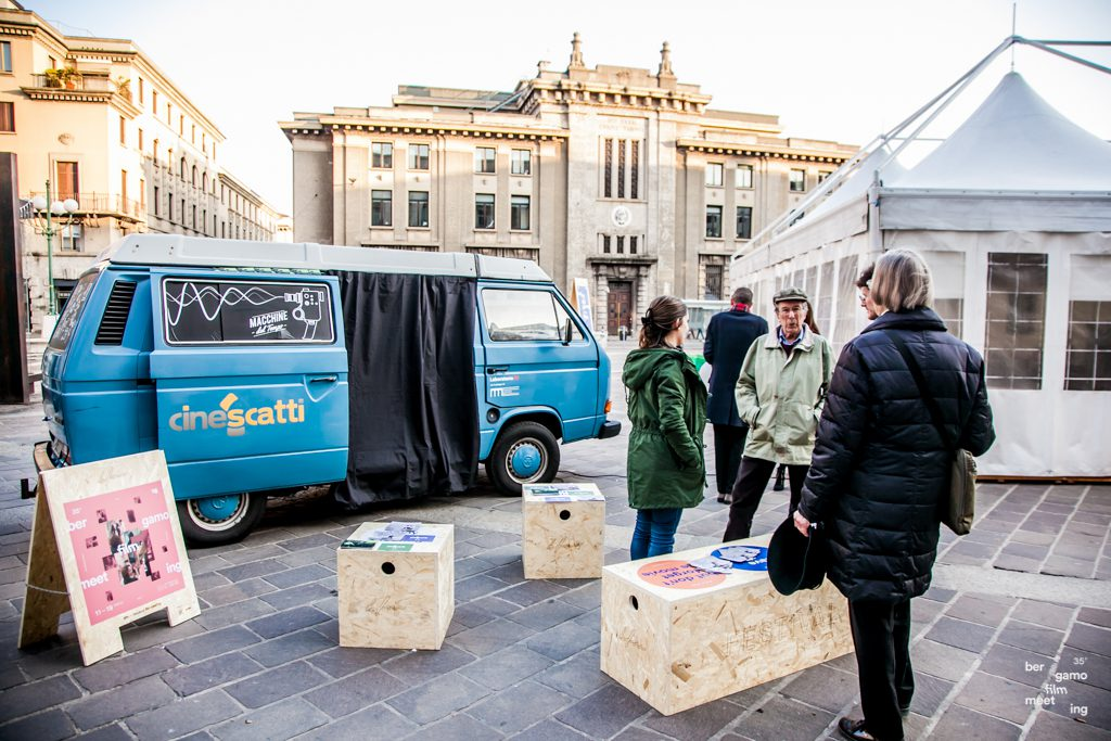 Bergamo Film Meeting - elementi arredo urbano OSB