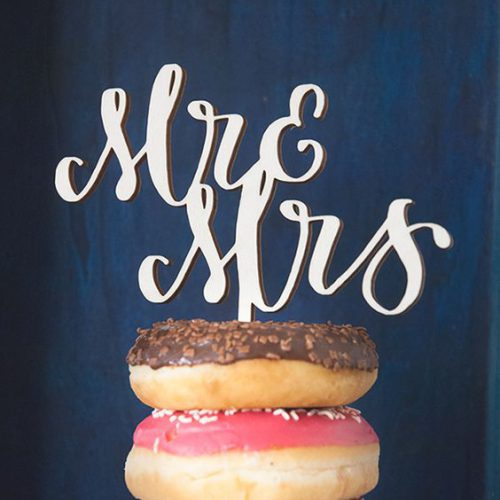 Wooden cake topper | lettering machine