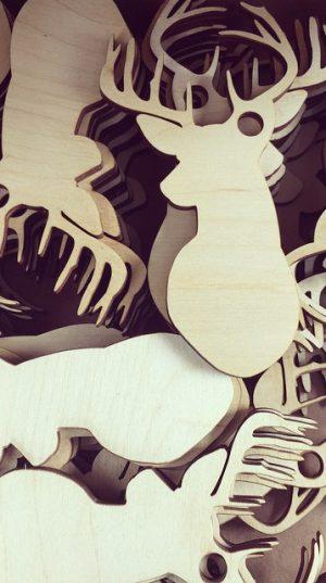 Gadgets en bois - Vectoréalisme