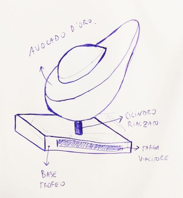 Sketch Avocado golden