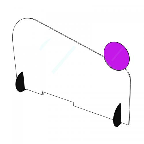 Barrière barrière en plexiglas personnalisée