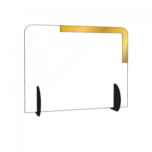 Personalized transparent plexiglass parafiato barrier