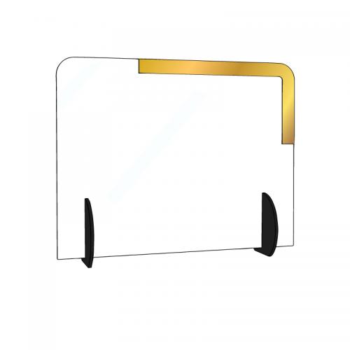 Barriera parafiato in plexiglass trasparente personalizzata