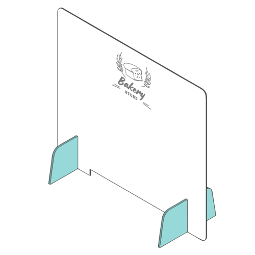 Parafiato barrier in plexiglass