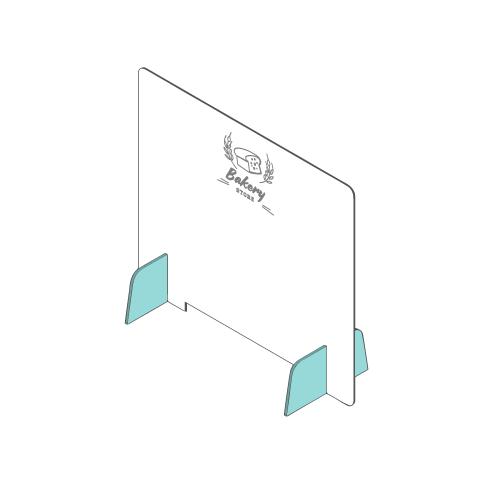 popup barrière en plexiglas barrière
