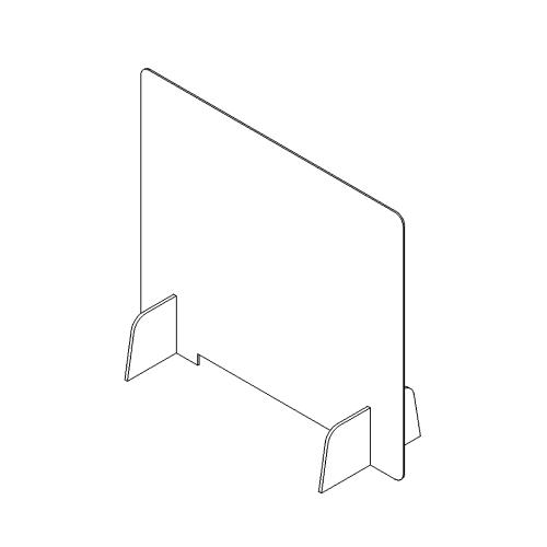 Parafiato in plexiglass trasparente