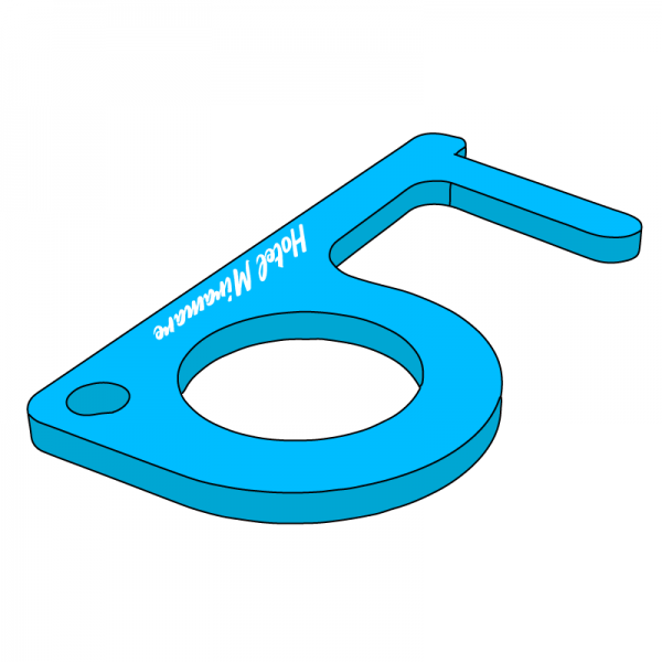 Ouvre-porte porte-clés en plexiglas
