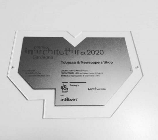 Award plaque in plexiglass